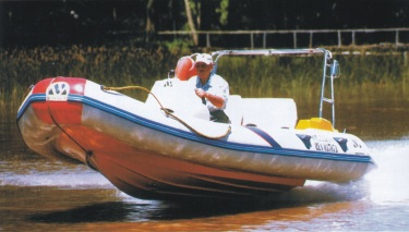Moon 560 Sport Rigid inflatable boat with 40 hp motor