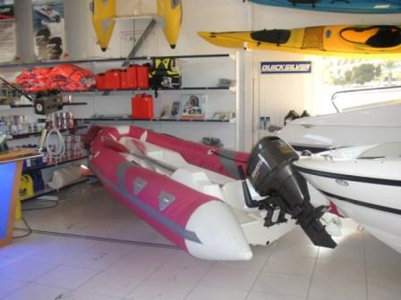 MOON 440 T ribs rigid inflatable boats Spain. Semirrigida neumatica inflable Espana